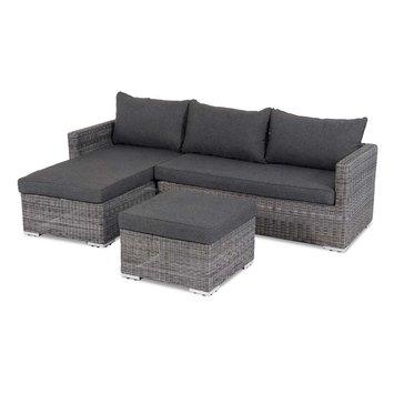 grijs loungeset lounge set bank kwaliteit leegverkoop marktgigant. Black Bedroom Furniture Sets. Home Design Ideas