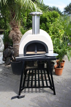 Black Front Pizza-oven AMALFI 70 steenoven