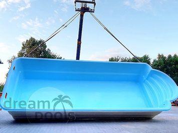 Inbouw zwembaden polyester zwembad 9 50x3 70m for Polyester zwembad plaatsen
