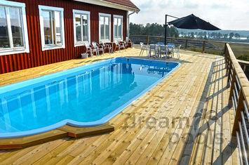Polyester zwembad met isolatie 7 10 x 3 10 x 1 55m for Polyester zwembad plaatsen