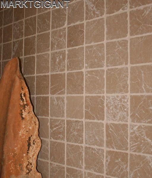 Luxe Badkamer Showroom ~ wand en vloertegels Travertin Noce 20x20x1 cm anticato  Marktgigant