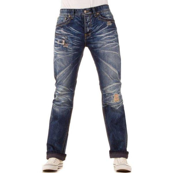 heren jeans used look blauw marktgigant. Black Bedroom Furniture Sets. Home Design Ideas