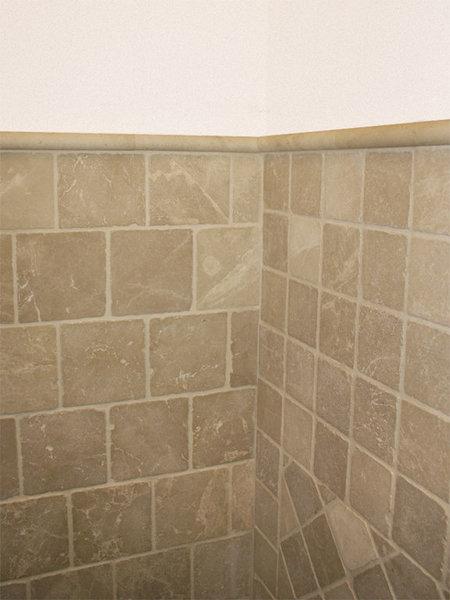 Badkamer wandtegels beige marmer 20x20 cm natuursteen marktgigant - Bruine en beige badkamer ...