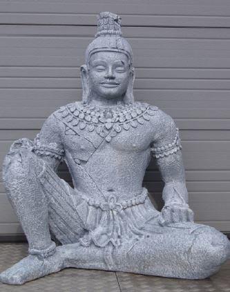 Boeddha Beeld Beton.Beeld Boeddha Groot Polyester Beton Marktgigant