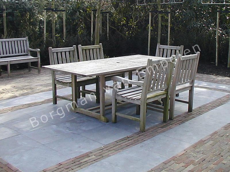 Blue limestone 60x60x2 5 cm voor een mooi terras marktgigant - Dek een terras met tegels ...