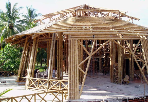 Guagua bamboo guadua bamboe bamboe bamboe producten for Bamboo roofing materials
