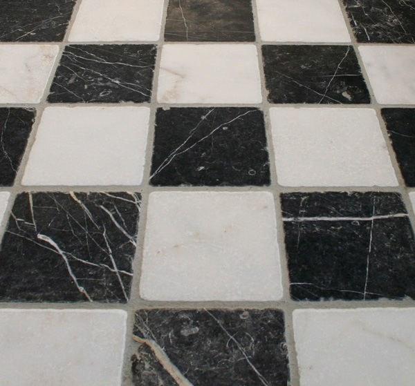 Keuken tegeltjes zwart wit marmer 10x10 cm verouderd - Keuken wit marmer ...
