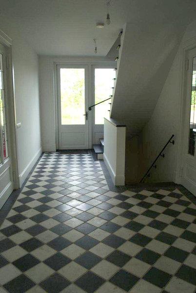 Nostalgische Keukenvloer : keukenvloer zwart/wit marmer 20x20x1 cm verouderd – Marktgigant