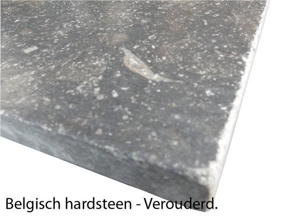 Hardsteen Tuintegels 60x60.Landelijke Stijl Vloertegels Belgisch Hardsteen 60x60 Cm