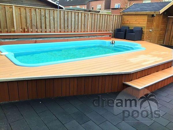 Polyester zwembad met isolatie 5 20 x 3 00 x 1 40m for Inbouw zwembad compleet
