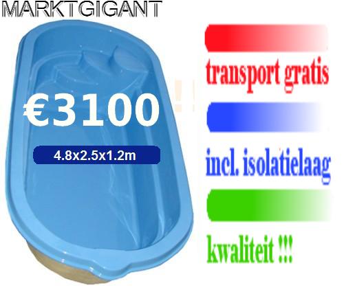 Polyester zwembaden uitverkoop marktgigant for Polyester zwembad goedkoop