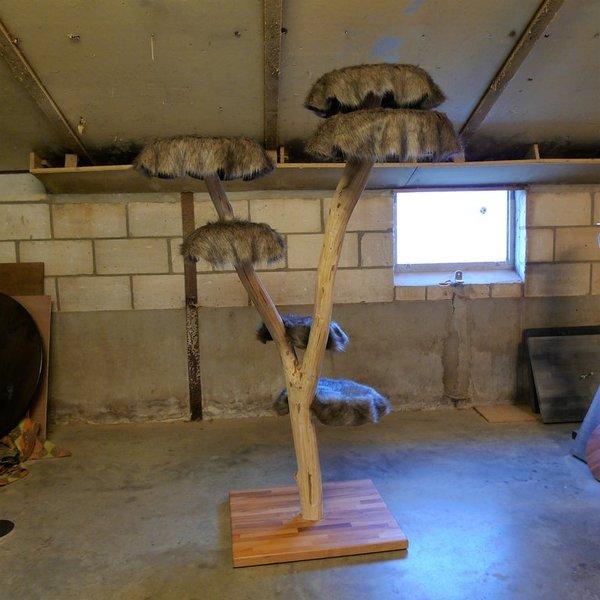 Unieke buiten krabpalen uit natuur hout marktgigant - Badkamer natuur hout ...