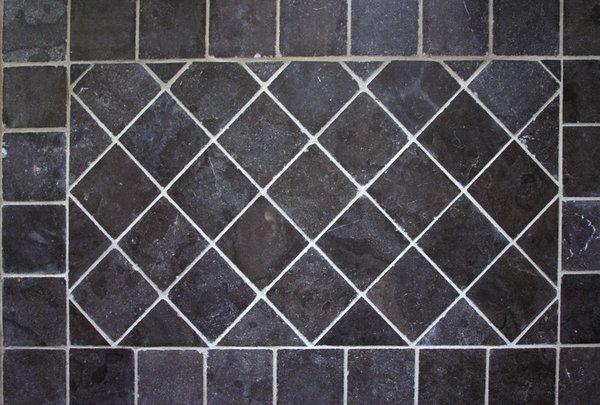 Woonkamer Rustiek : vloer Blue Stone hardsteen 20x20x1,5 cm rustiek ...
