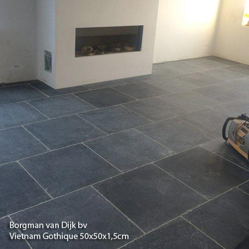 vloer Vietnamees hardsteen Gothic 60x60x2 cm verouderd - Marktgigant