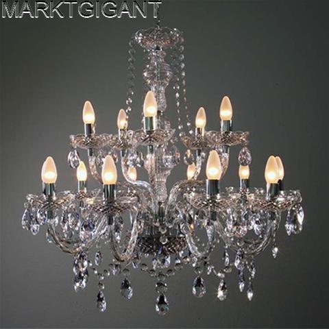 Zeer grote kroonluchter 15 lamps 15 armen kris marktgigant - Zeer grote eettafel ...